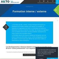 Formation interne / externe