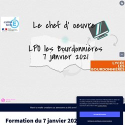 Formation du 7 janvier 2021 POMES BARON by tophe.baron on Genially