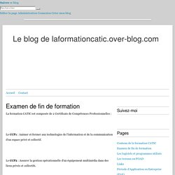 Examen de fin de formation - Le blog de laformationcatic.over-blog.com