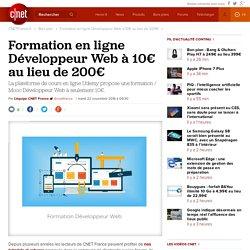 Formation en ligne Développeur Web à 10€ au lieu de 200€