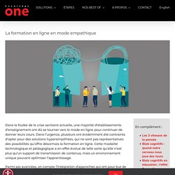 La formation en ligne en mode empathique
