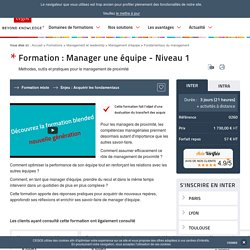 Formation Manager une équipe