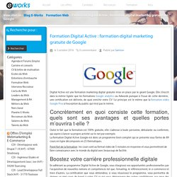 Formation Digital Active : formation digital marketing gratuite de Google