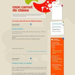 Carnet de classe de l'école au Pied-de-la-Montagne annexe: Formation Benoît Dumas Mathématique