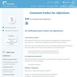 Formation vente - 12 méthodes pour traiter les objections - Mercatis