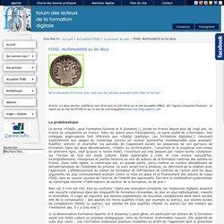 FFFOD, le forum des acteurs de la formation digitale - FOAD, Multimodalité ou les deux.