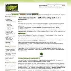 Formation naturopathie – CENATHO, collège de formation naturopathie - Ecole de naturopathie CENATHO – Daniel KIEFFER
