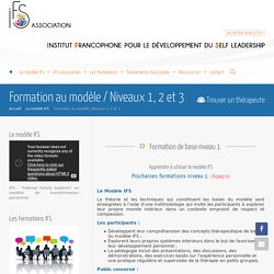Formation au modèle / Niveaux 1, 2 et 3 - IFS Association