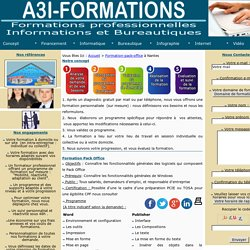 Formation Pack Office àNantes avec A3Iformations.