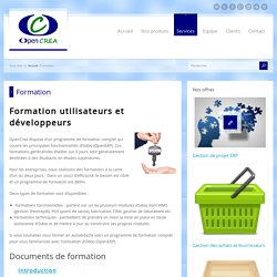 Formation OpenCrea - solution CRM ERP open source