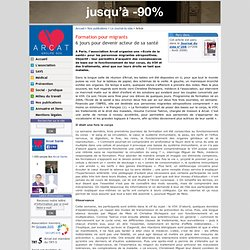 Formation pour migrants - 6 jours pour devenir acteur de sa santé - Article - Arcat - VIH/sida et pathologies associées