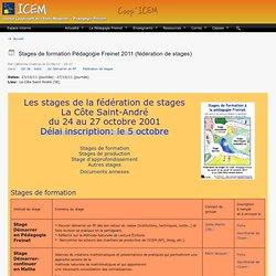 Stages de formation Pédagogie Freinet 2011 (fédération de stages)