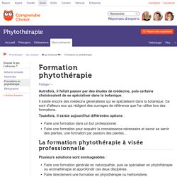 Formation phytothérapie : trouver une formation phytotherapie