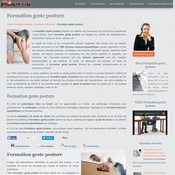 Formation geste posture : Alertis formation gestes postures Lyon