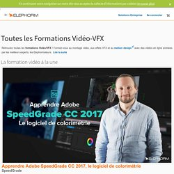 Formation au montage vidéo et au motion design - VFX, Final Cut Pro X, Premiere Pro CC, After Effects CC, DaVinci Resolve, Avid Media Composer