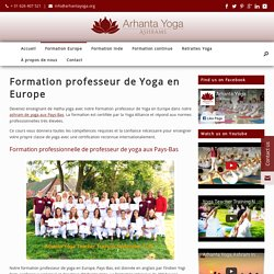 Formation professeur de Yoga en Europe