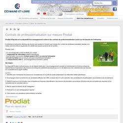 Contrats de professionnalisation sur mesure Prodiat