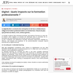 Digital : Quels impacts sur la formation professionnelle ?