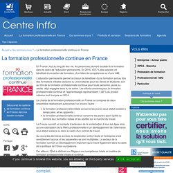 La formation professionnelle continue en France
