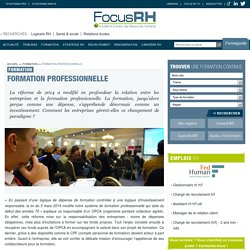 Formation professionnelle - Focus RH