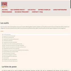 Les outils - RHTPE : Maison de l'emploi et de la Formation professionnelle du Pays de Brest