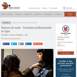Stylisme de mode - Formation professionnelle en ligne - Thot Cursus