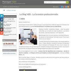 La formation professionnelle l Le Mag' du Manager #25