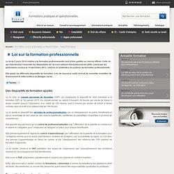 Formation Loi sur la formation professionnelle