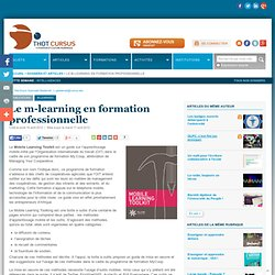 Le m-learning en formation professionnelle