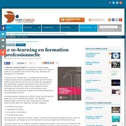 Le m-learning en formation professionnelle