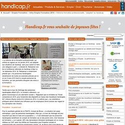 """Réforme formation professionnelle : """"adaptée"""" au handicap - Infos Emploi Formation 2014 (7348)"""