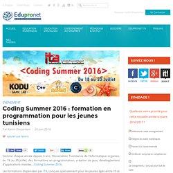 Coding Summer 2016 : formation en programmation pour les jeunes tunisiens