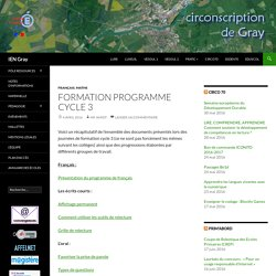 Formation Programme Cycle 3