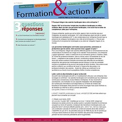 Formation & Action > IDF 3 questions / réponses