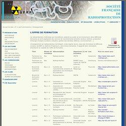 L'offre de formation - Societe francaise de radioprotection