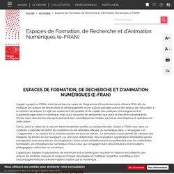 Espaces de Formation, de Recherche et d'Animation Numériques (e-FRAN)
