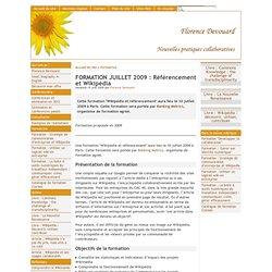 FORMATION JUILLET 2009 : Référencement et Wikipédia - [ ]