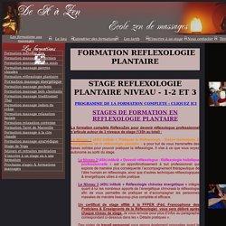 FORMATION ET STAGES DE REFLEXOLOGIE PLANTAIRE - SOINS DES PIEDS
