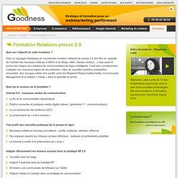 Formation Relations presse 2.0 - Goodness - Bidart