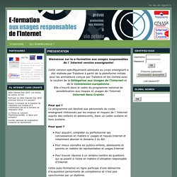 E-Formation aux usages responsables de l´internet