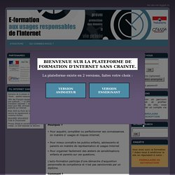 E-Formation: E-Formation aux usages responsables de l´internet