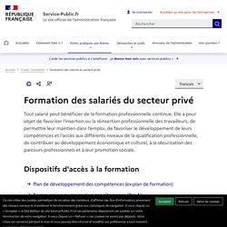 Formation des salariés du secteur privé