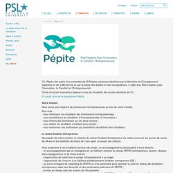 PSL PEPITE - formation - Paris Sciences et Lettres - PSL - Research University