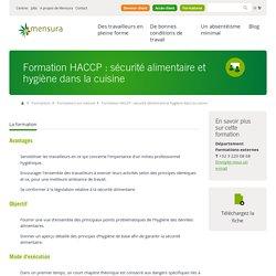 Mensura - Formation HACCP : sécurité alimentaire et hygiène dans la cuisine