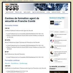 Formation agent de sécurité en Franche comté