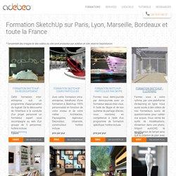 Formation SketchUp sur Paris, Lyon, Marseille, Bordeaux et toute la France