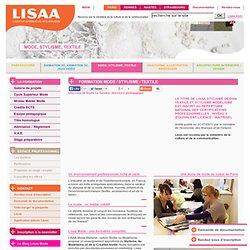 Ecole de Mode Lisaa Paris : Formation Stylisme Textile Modélisme