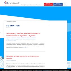Formation - Subventions.fr