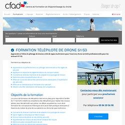 Formation Télépilote de drone S1/S3 - CFAD