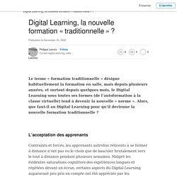 Digital Learning, la nouvelle formation « traditionnelle » ?
